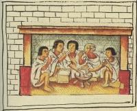 Aztékové při obědě