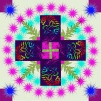 Mandala - Dračí kříž