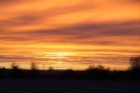 Oranžová, západ Slunce
