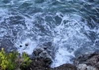 Rozbouřená mořská voda