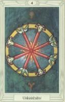 Tarot - Čtyřka holí, uskutečnění
