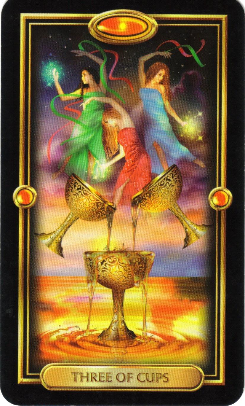 Tarotova Karta Na Mesic Zari Trojka Poharu Horoskopy Na Miru